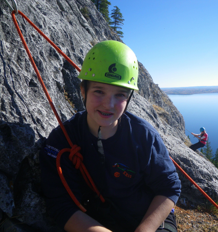 girl climbing OVERhang